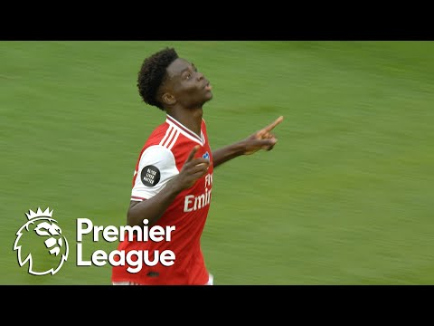 Bukayo Saka's half-volley puts Arsenal in front of Wolves | Premier League | NBC Sports
