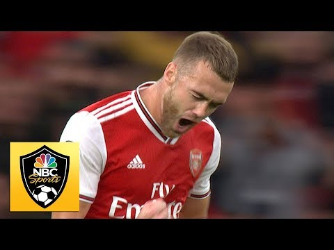 Calum Chambers equalizes for Arsenal in the 81st minute vs Aston Villa | Premier League | NBC Sports
