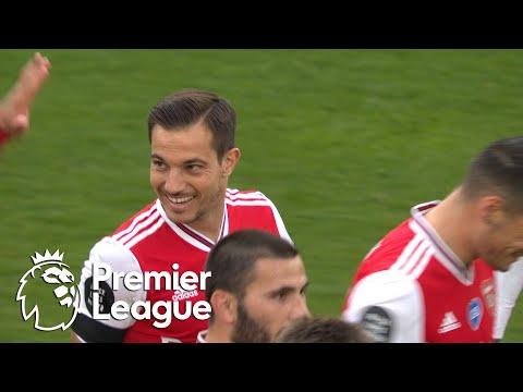 Cedric Soares' debut goal puts Arsenal 4-0 up against Norwich City | Premier League | NBC Sports