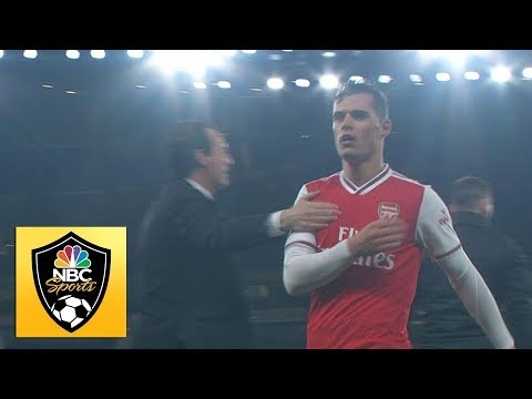 Granit Xhaka jeered by Arsenal fans as he is subbed off | Premier League | NBC Sports