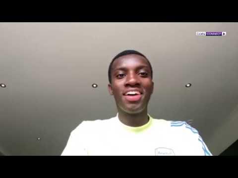 Hold the phone! – Arsenal's Eddie Nketiah speaks to Nicky Crosby